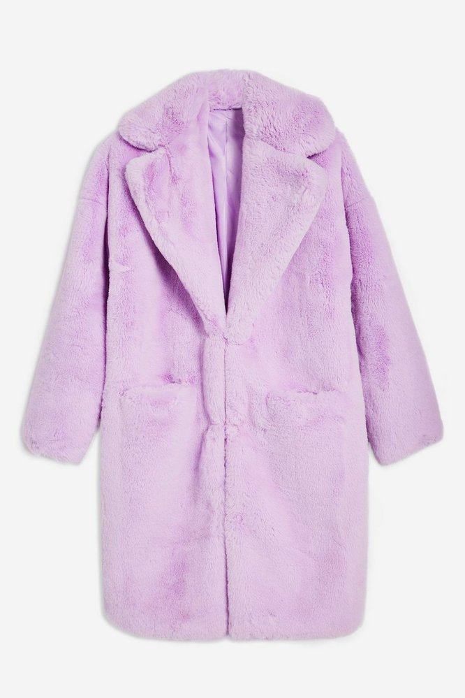 Pastelový kožešinový kabátek, TopShop, £85.00