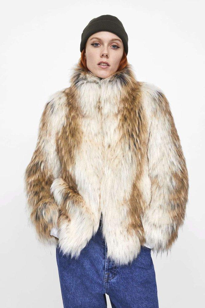 Kabátek z umělé kožešiny, Zara, 2599 Kč