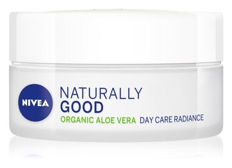 Rozjasňující denní krém s aloe vera Naturally Good, Nivea, 200 Kč/50 ml