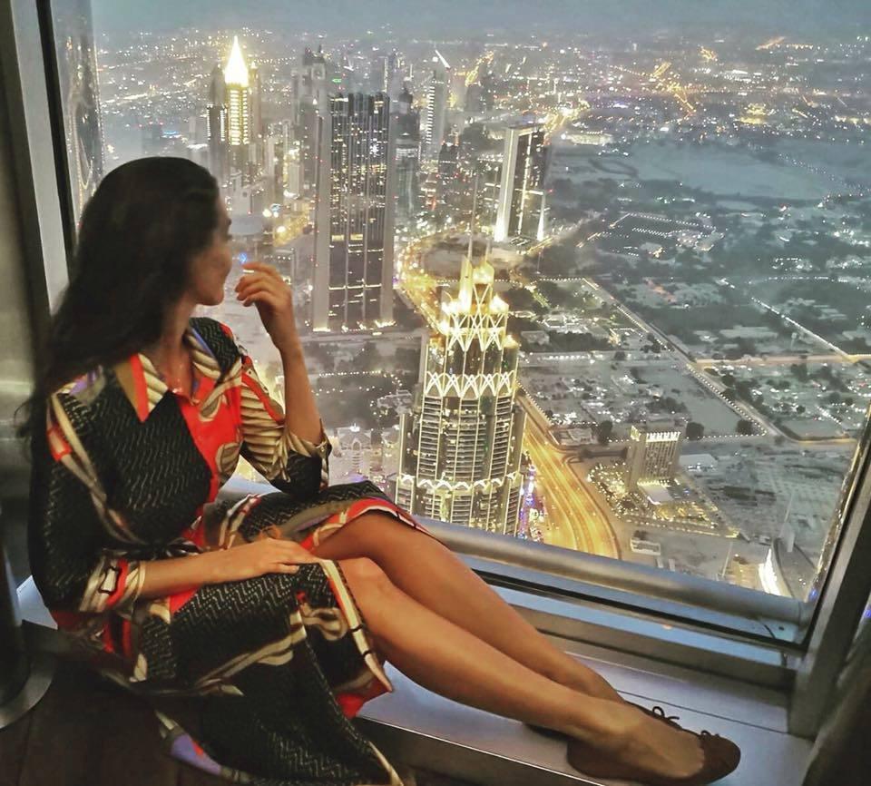 Výhled z nejvyššího mrakodrapu na světě.