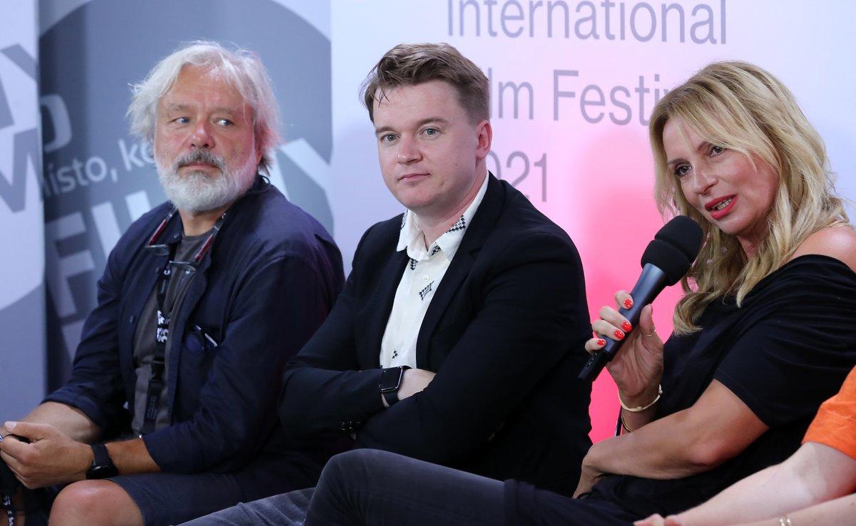 Tisková konference filmu Zbožňovaný - Ivana Chýlková a Petr Kolečko
