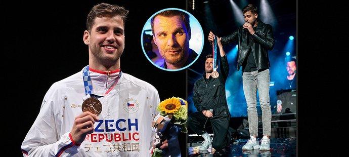 Bronzový medailista z OH Alexander Choupenitch byl hostem hudební show Leoše Mareše