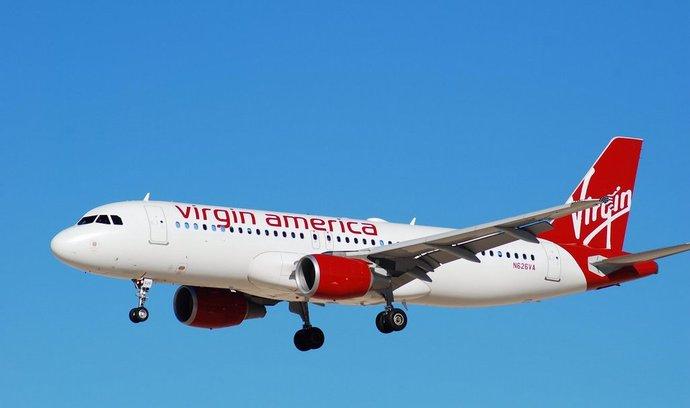 Letadlo společnosti Virgin America.
