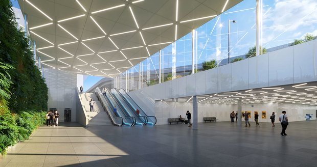 This is what the future stop at Prague Airport will look like