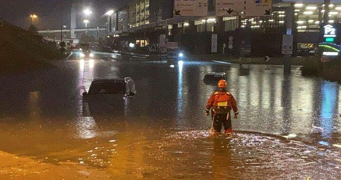 Záplavy na letišti v Miláně (16.9.2021)