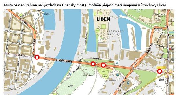 Libeňský most v noci uzavřou, podívejte se, kudy povedou objízdné trasy.
