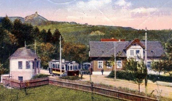 Liberecké tramvaj v roce 1927