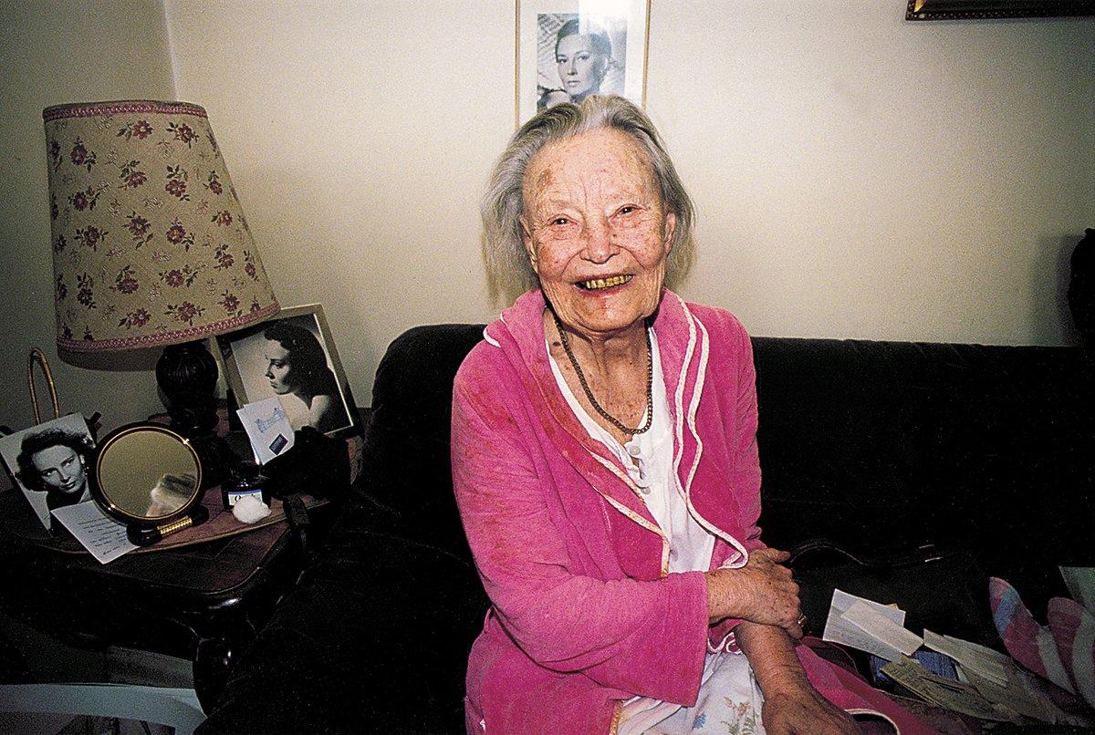 Lída Baarová v roce 2000, krátce před svou smrtí.