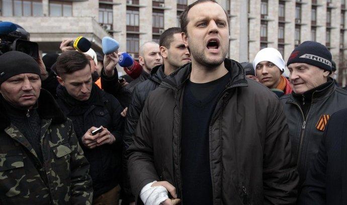 """""""lidový gubernátor"""" Pavel Gubarev v Doněcku"""