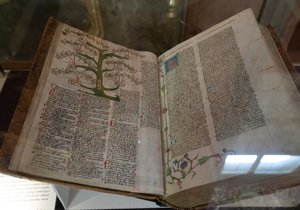 The Sixth Bible from Ottersdorf exhibited in the Prague Clementine.  (September 1, 2021)
