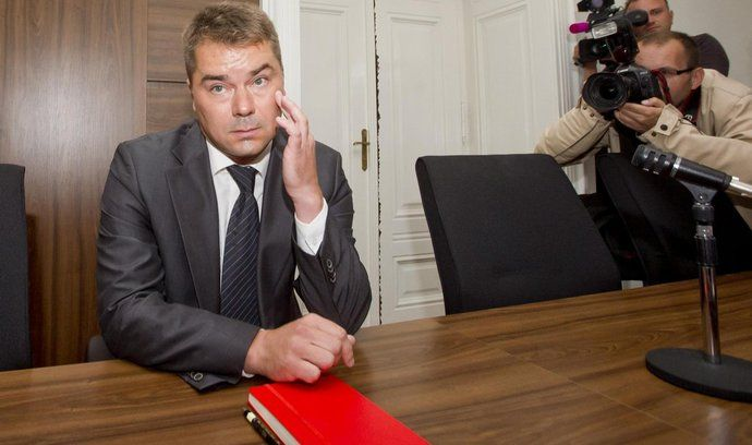 Lobbista Marek Dalík u pražského městského soudu,