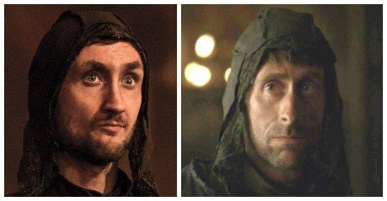 Lothar Frey. Jen skalní fanoušci seriálu se orientují v postavách rodu Freyů. Lothara si zahráli Tom Brooke (vlevo) a Daniel Tuite