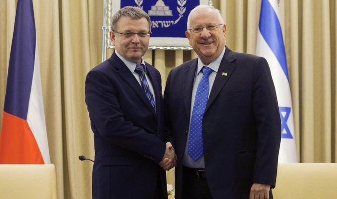 Lubomír Zaorálek a izraleský prezident Reuven Rivlin