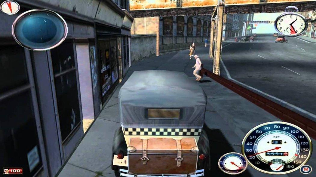 Screen z původní verze hry Mafia z roku 2002.