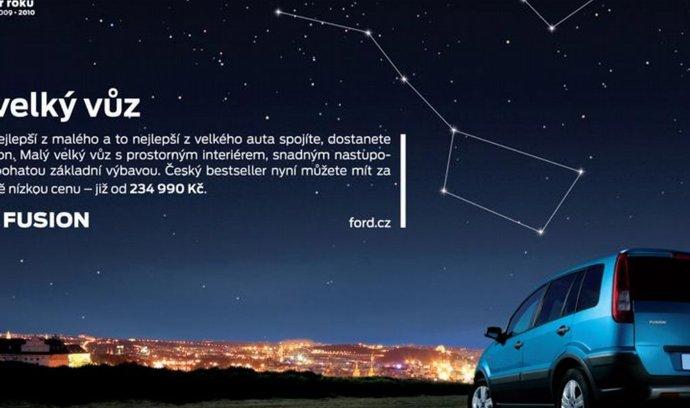 Malá velká kampaň na Ford Fusion s malým velkým plakátem