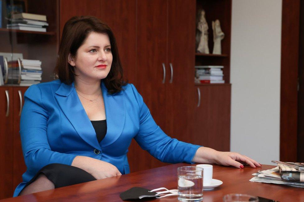 Jana Maláčová, místopředsedkyně ČSSD (26. 10. 2021)