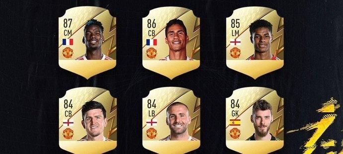 Ratingy několika hráčů z Manchesteru United