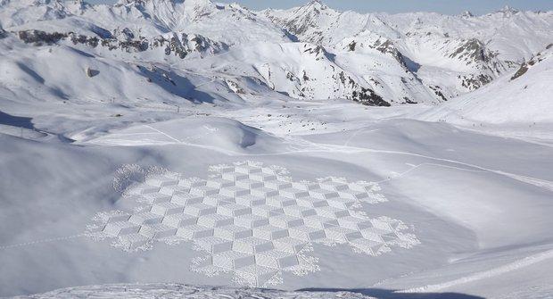 Originální umění: Mandaly ve sněhu