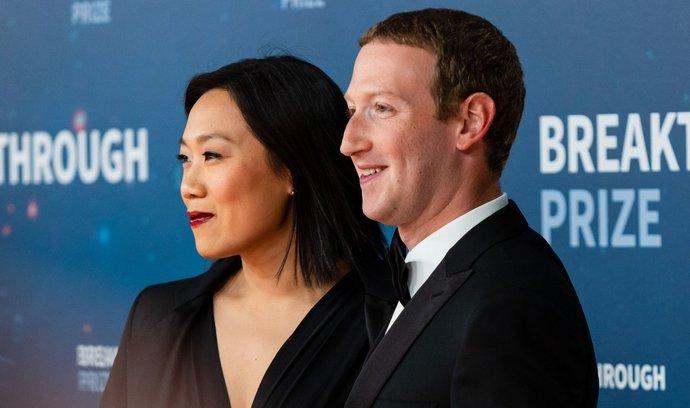 Priscilla Chanová a její manžel Mark Zuckerberg