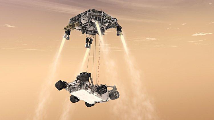 Mars 2020: Vizualizace přistání na Marsu