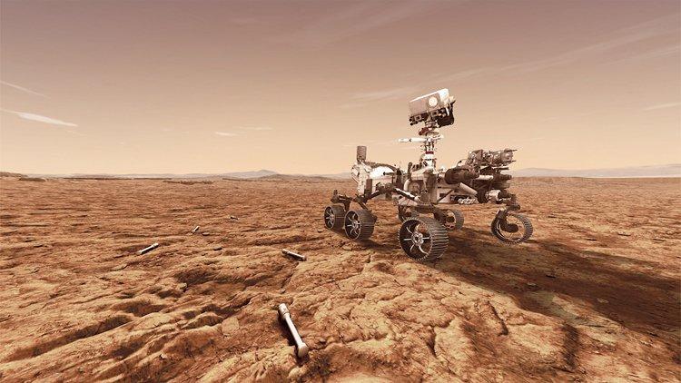 Mars 2020: Malý rover v budoucnu posbírá vzorky, které Perseverance zanechá na povrchu