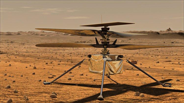 Ingenuity se stane prvním vrtulníkem mimo Zemi, bude létat na Marsu