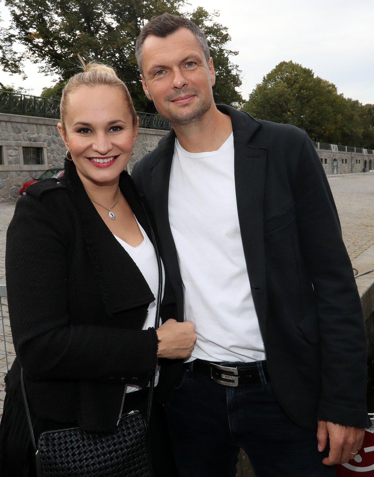 Monika Absolonová s Tomášem Hornou.