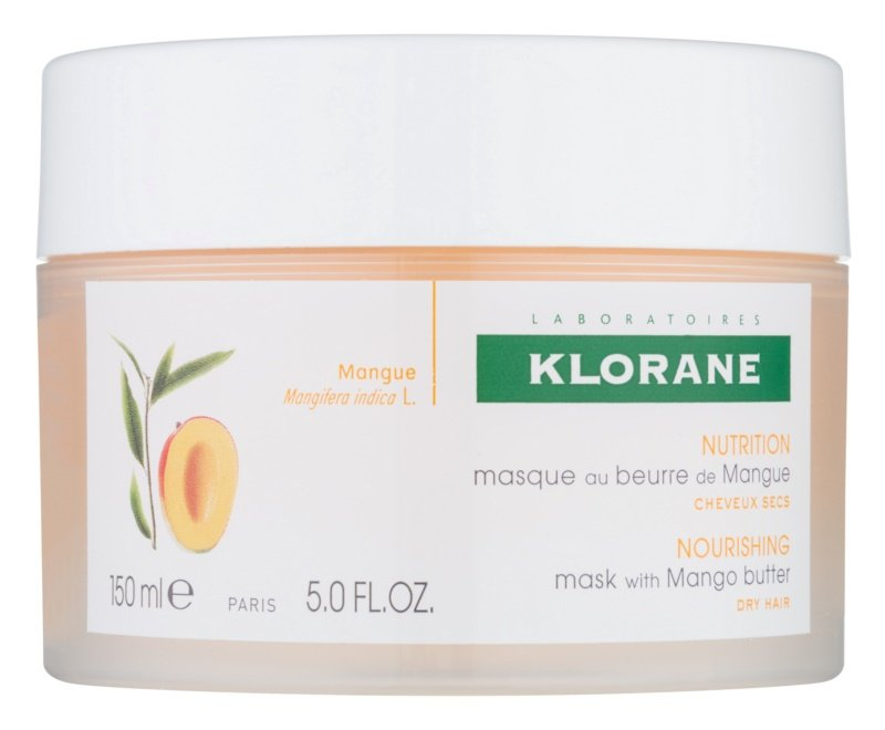 Vyživující maska pro suché a poškozené vlasy Mango, Klorane, 419 Kč/150 ml