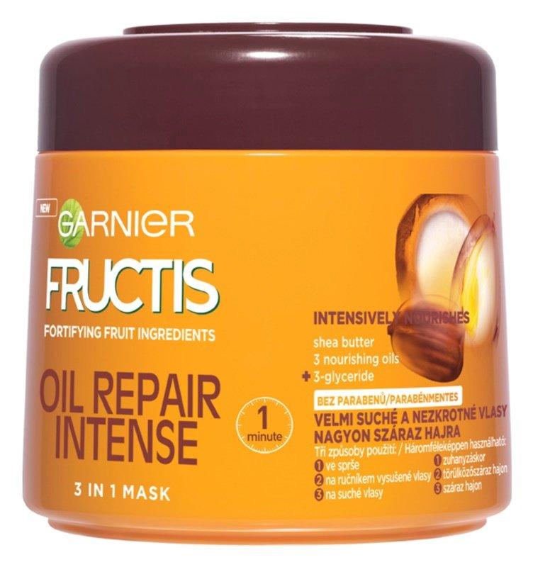Multifunkční maska 3v1, Oil Repair Intense, Garnier Fructis, 109 Kč/300 ml
