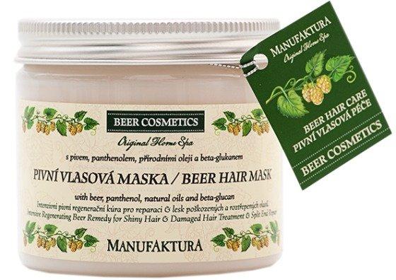 Regenerační pivní vlasová maska s panthenolem a beta-glukanem, Manufaktura, 229 Kč/200 ml