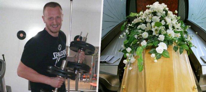 Pohřeb basketbalisty Michala Maslíka se musel obejít bez jeho partnerky s dcerkou