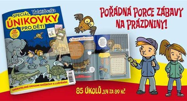 Výherci soutěže časopisu Mateřídouška s únikovkami