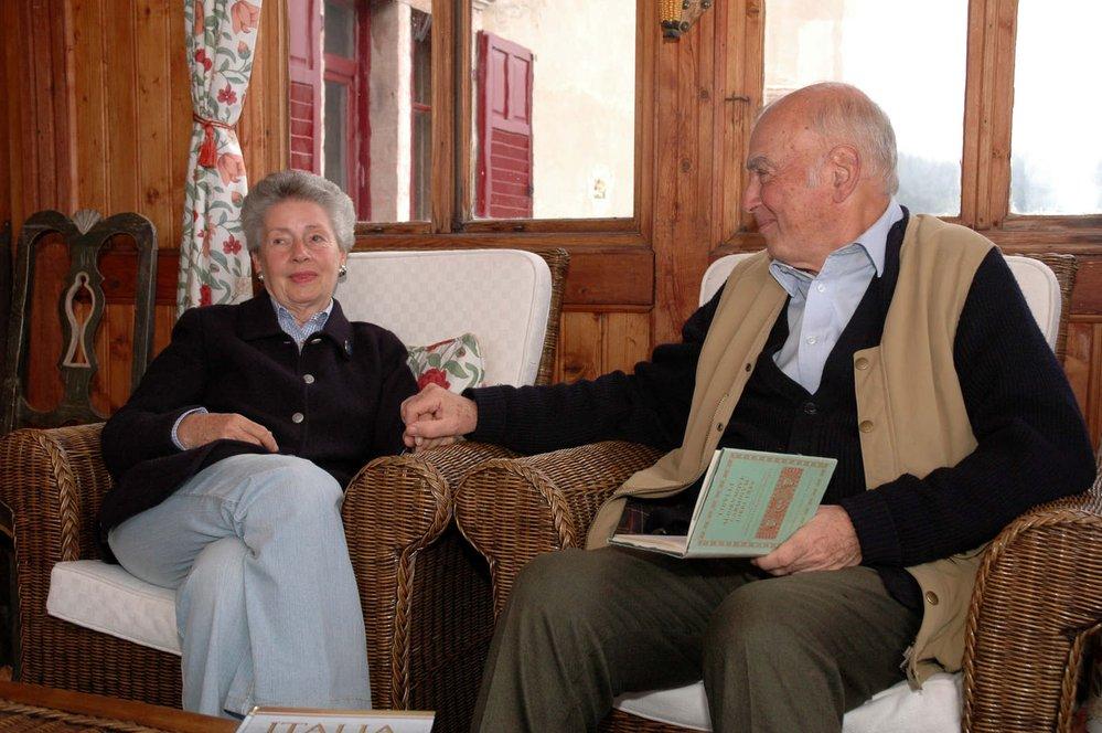 Mathilda Nostitzová s otcem