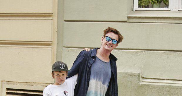 Tomáš Měcháček ukázal jedenáctiletého syna Nikitu.