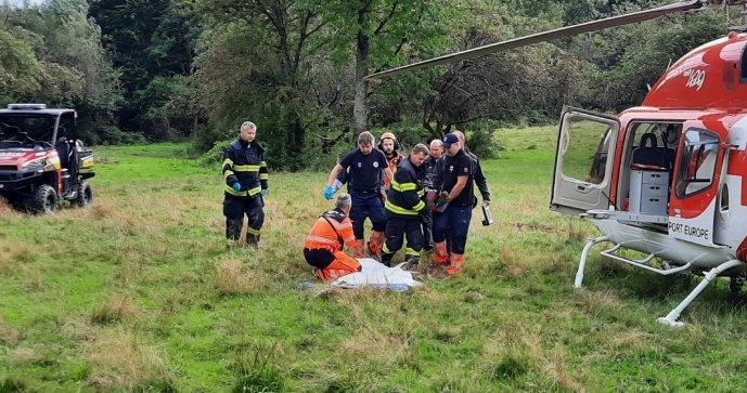 Eriku (58) v ovocném sadu u Hradiště napadl medvěd: Zachraňoval ji vrtulník!