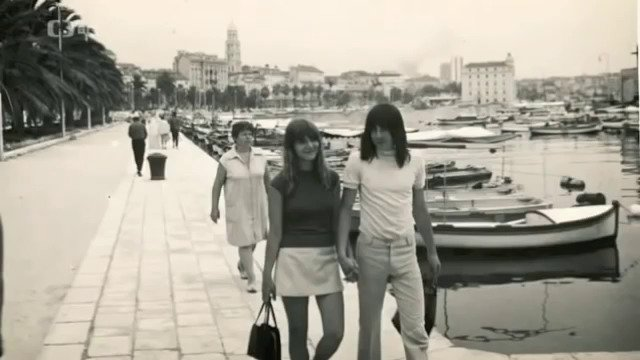 Mejla Hlavsa s Mirkou na dovolené v Jugoslávii