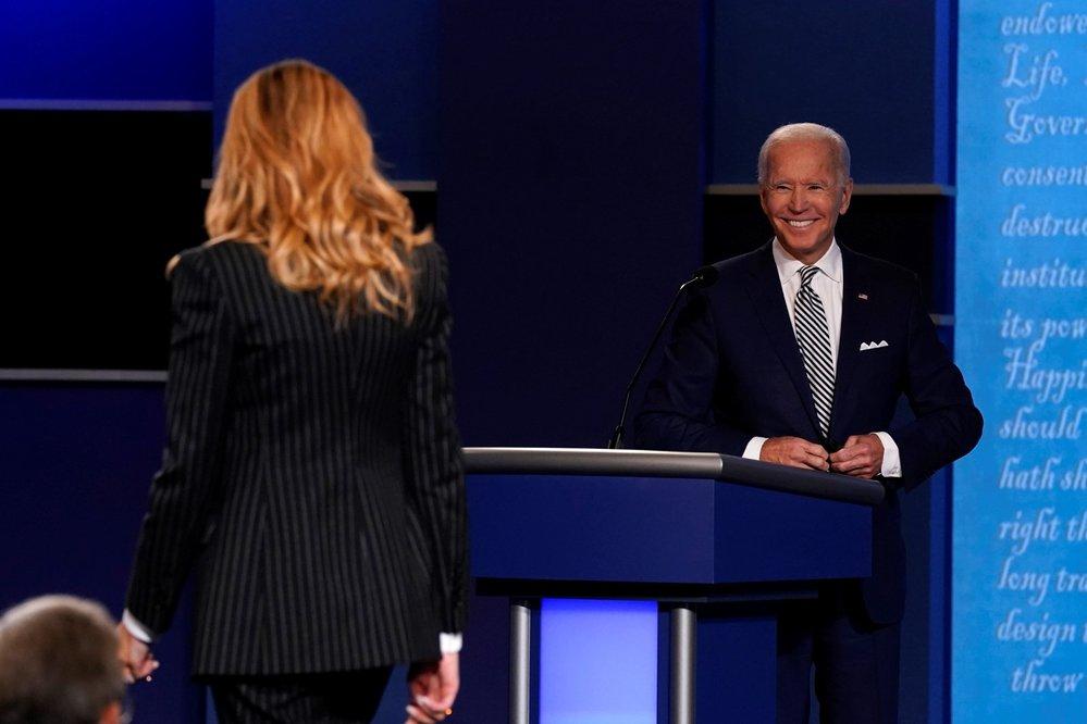 První debata kandidátů před americkými prezidentskými volbami: Joe Biden a manželka prezidenta Donalda Trumpa Melanie