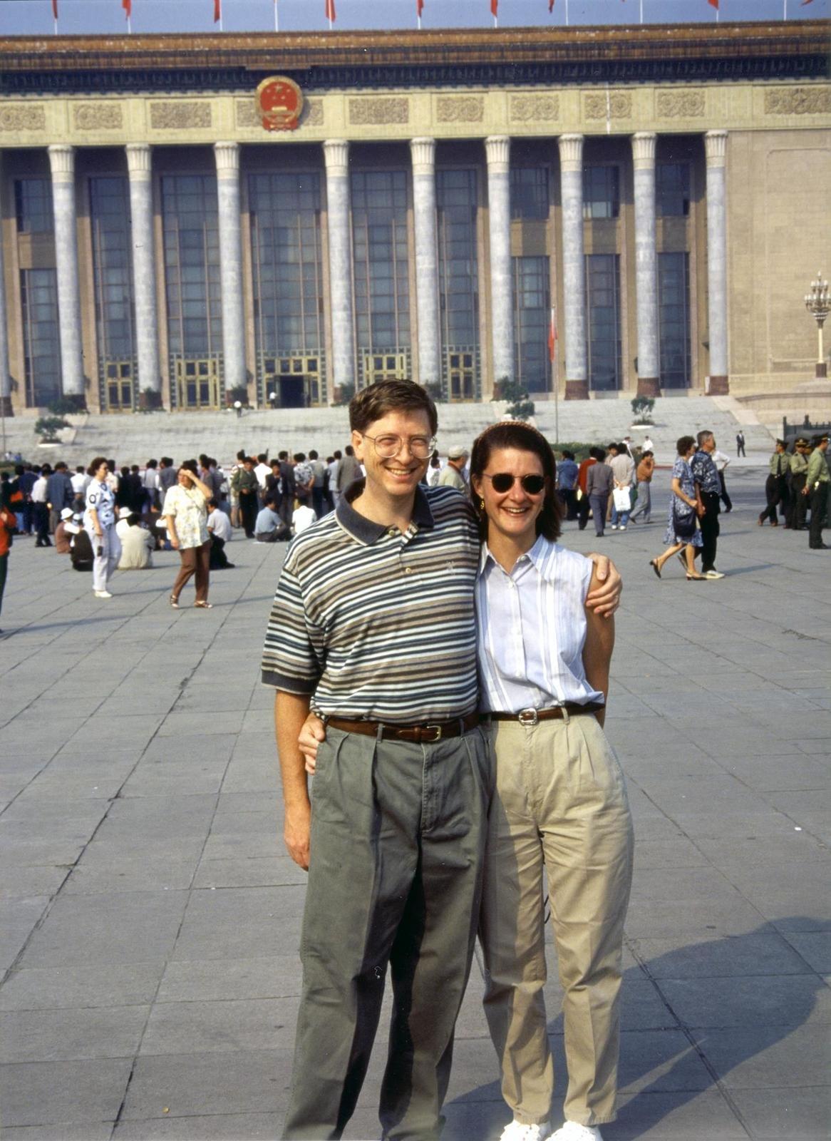 Bill a Melinda v Číně v roce 1995.