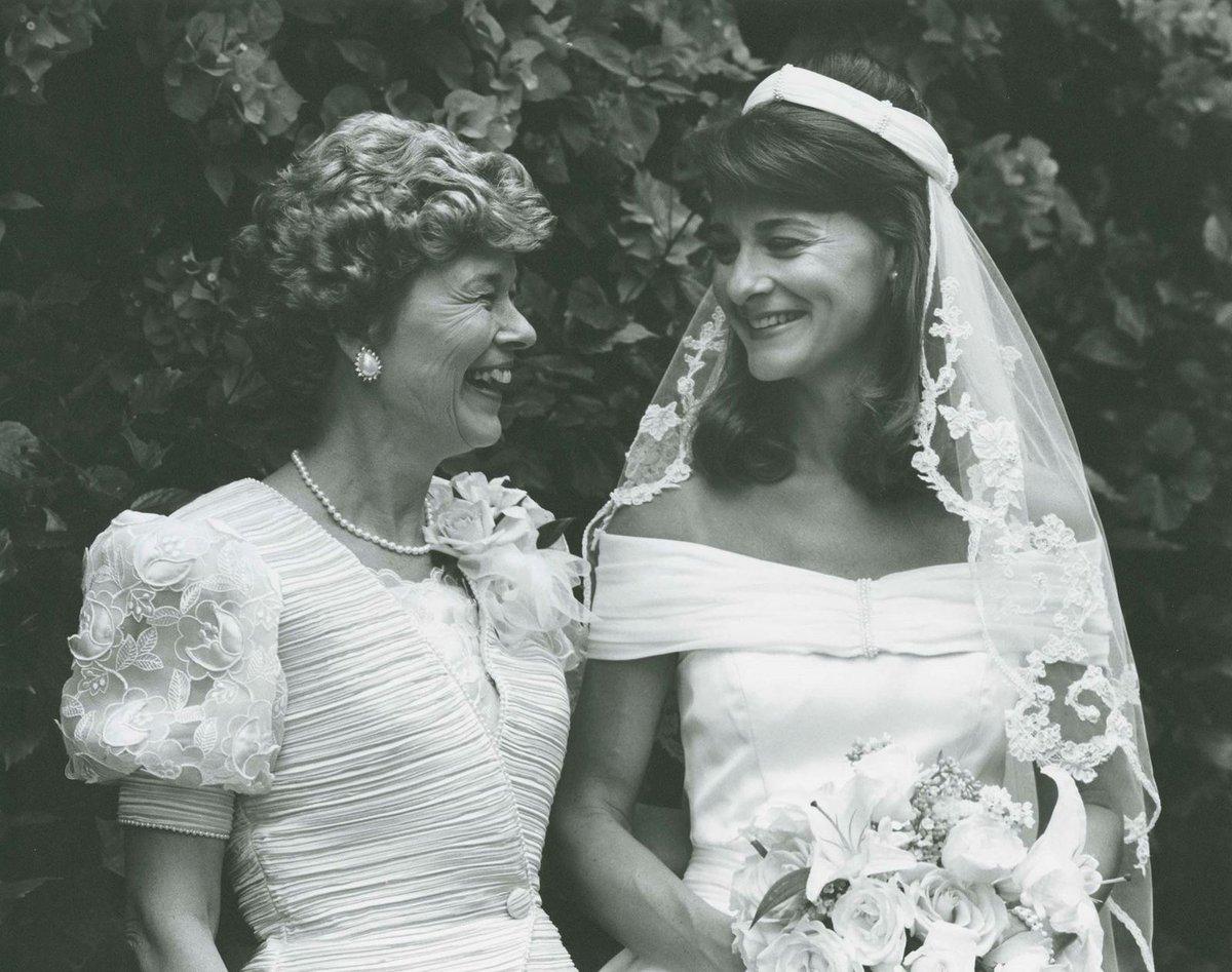Melinda se svou maminkou.