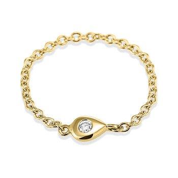 Prsten ze žlutého zlata s diamantem, ALO diamonds, alo.cz, 5 058 Kč