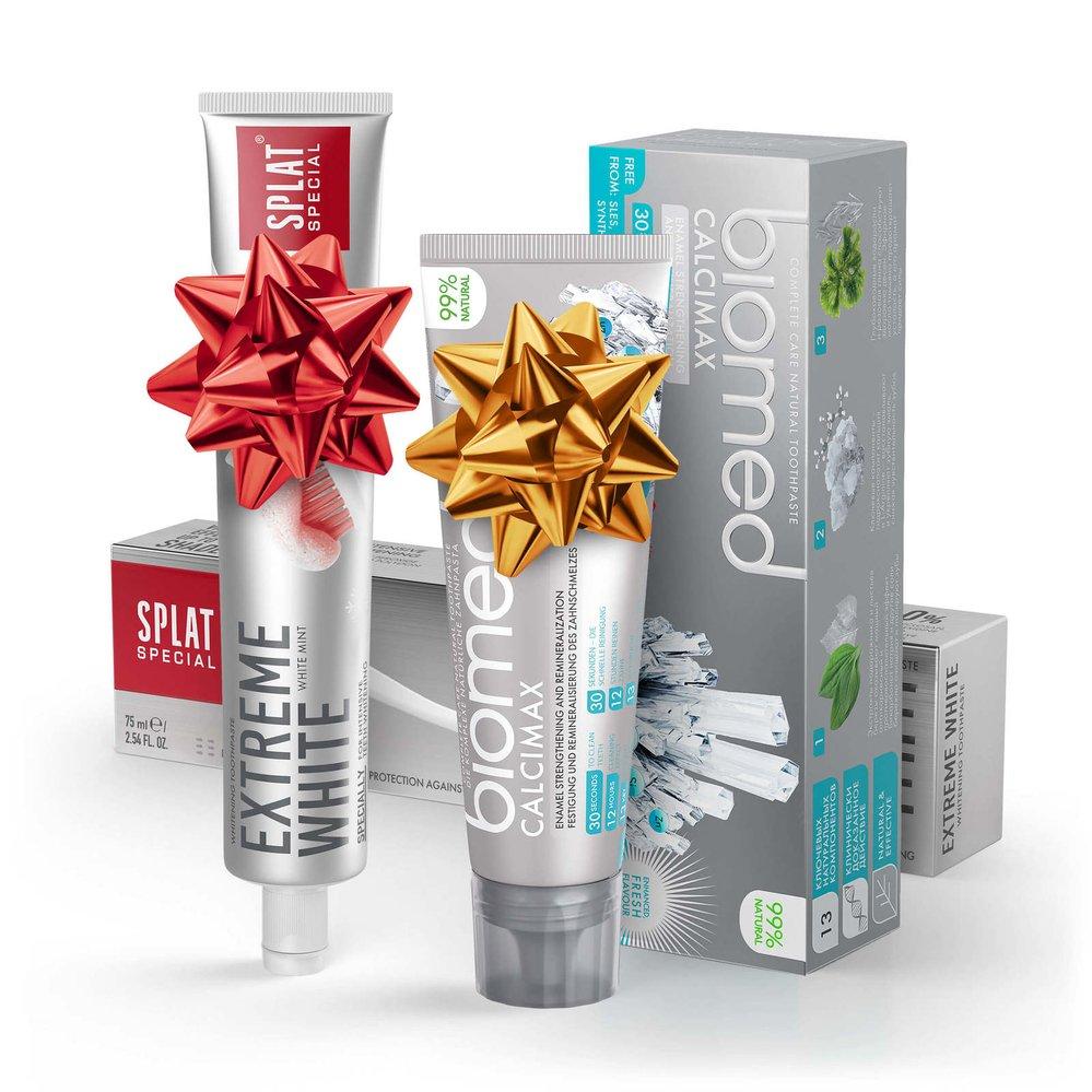 Dvojbalení zubních past pro zářivě bílé a silné zuby SPLAT White & Strong Duo & Biomed, pasta-splat.cz 239 Kč