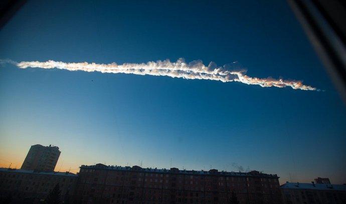 Meteorit padající na Ural