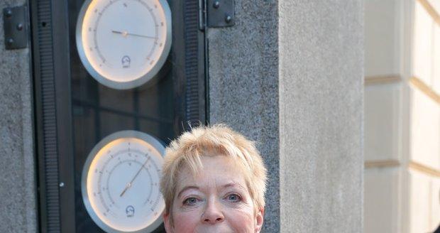 Obnovu meteosloupku v Praze 1 iniciovala nezisková organizace Czech National Trust, na snímku je manažerka projektu Eva Heyd.