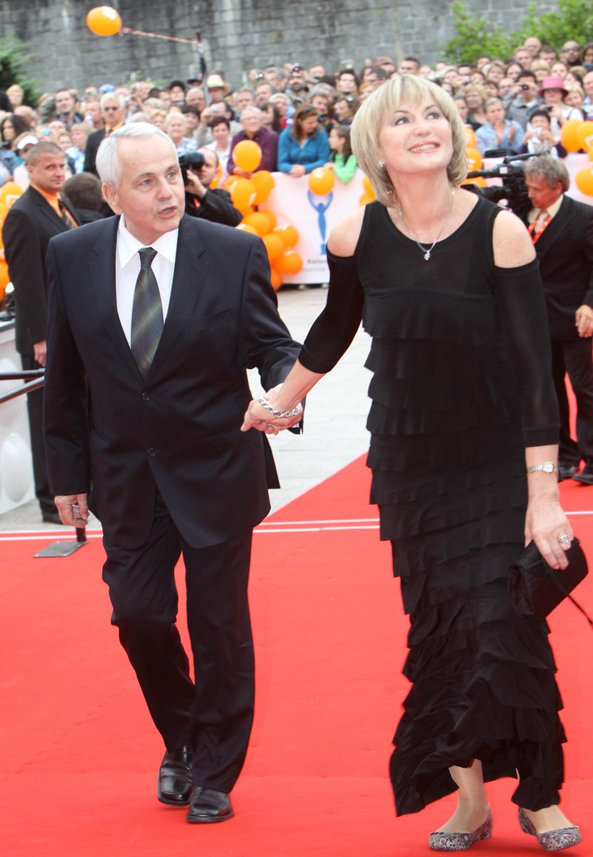 Eliška Balzerová se svým manželem.