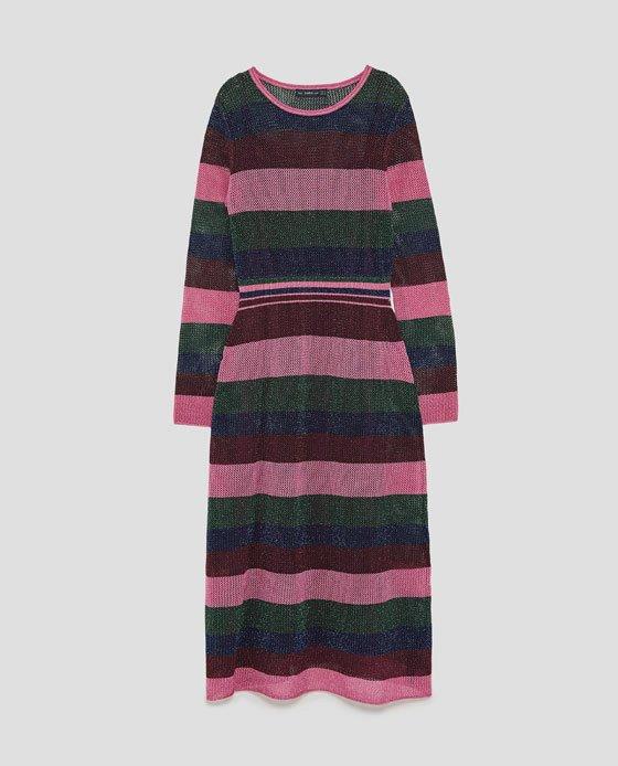 Pruhované šaty, Zara, 1299 Kč