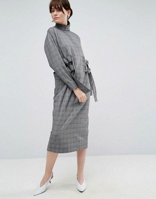 Kostkované šaty, Asos white, 85 GBP, www.asos.com