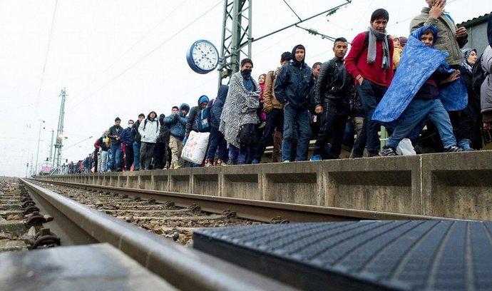 Migranti na nádraží v německém Pasově, ilustrační foto