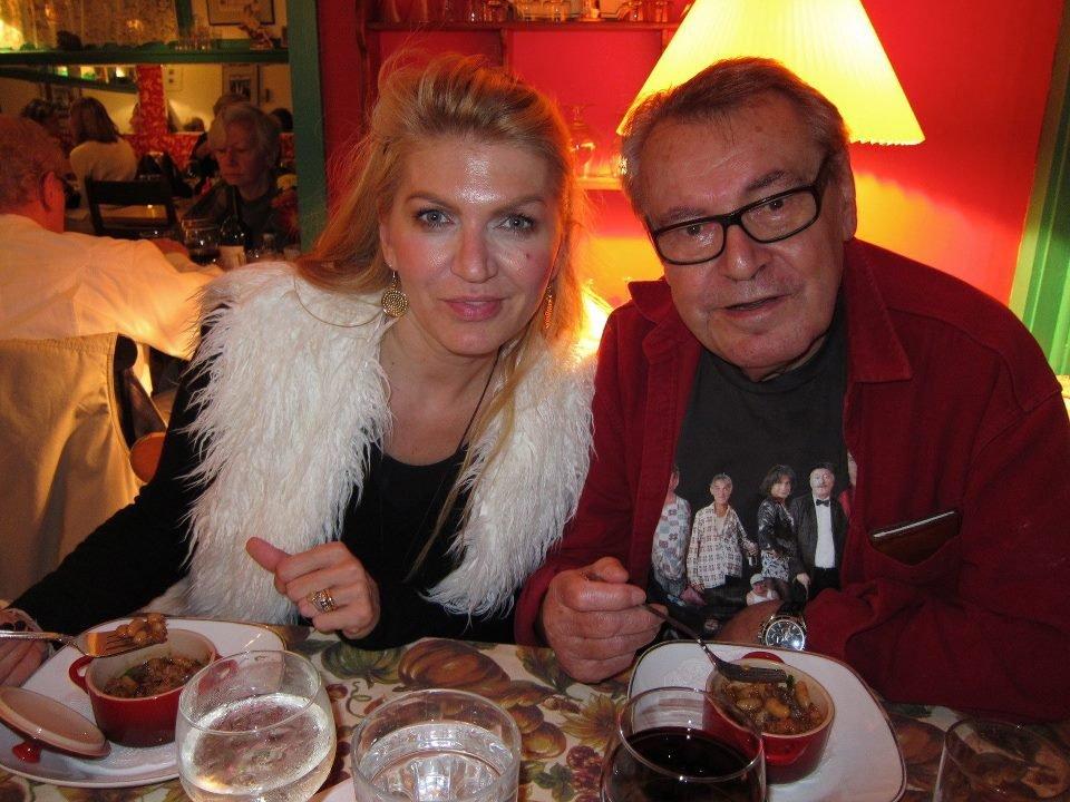 Miloš Forman s manželkou Martinou zašel před narozeninami v New Yorku na večeři.