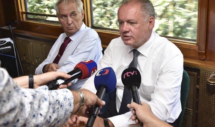 Prezidenti Miloš Zeman a Andrej Kiska