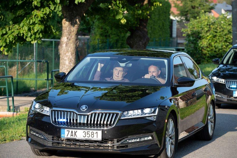 Prezident Miloš Zeman přijel na chalupo na Vysočinu.